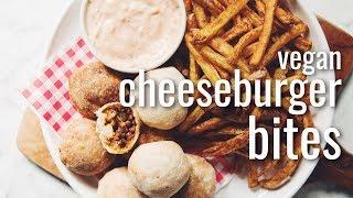 VEGAN CHEESEBURGER BITES   hot for food