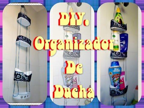 Porta papel para decorar tu lindo ba o con material for Organizador para ducha