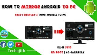 How to Mirror Android Screen To PC | No Root | USB | Wi-Fi | 2017