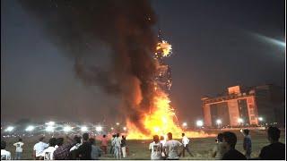 Burning the world's tallest Ravana at Panchkula (Chandigarh)