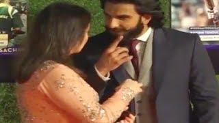 Ranveer Singh is too excited talking to Anjali at Sachin Tendulkar film Premiere   Watch Video