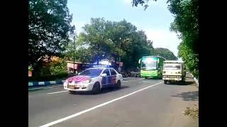 Konvoi bus PANDAWA 87 & 5 unit Atmajaya rombongan Gudang Garam bus 11 - 31