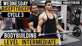 WEDNESDAY: High Rep BICEP/TRICEP Routine! Cycle 3 (Hindi / Punjabi)