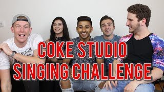 FOREIGN LANGUAGE SINGING CHALLENGE (COKE STUDIO) Ft. REACT CAST