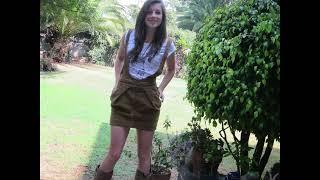Garden teenage fashion model