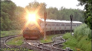 Train In Rain ।। Kapotaksha Express Train Is Slowly Entering Mirpur Station, Kushtia-BD Railway
