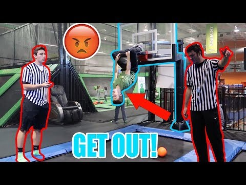 KICKED OUT OF A TRAMPOLINE PARK