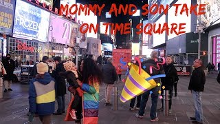 MOMMY AND SON TAKE ON TIMES SQAURE NEW YORK!!!!!