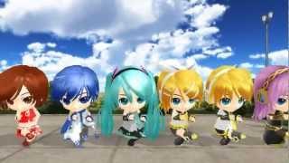 [MMD]Popipo Miku, Rin, Len, Luka, Kaito y Meiko