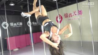 Sexy Chinese poledancing from Meng Ni