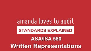 ASA/ISA580 - What Sort Of WRITTEN REPRESENTATIONS Do Auditors Need From Management