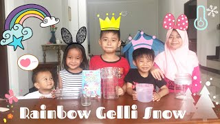 Learn colors with Rainbow Gelli Snow | Pink Color Where Are You Nursery Rhymes