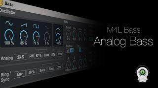 Analog Bass Tutorial in the New Max4Live Essentials Bass Synth