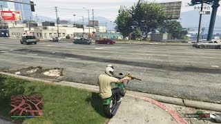 GTA 5 - Franklin, Michael and Trevor DRIVE BY IN THE HOOD (GTA 5 Funny Moments)