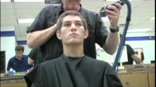 Air Force BMT first hair cut