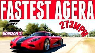 Forza Horizon 2 Top Speed Build : Koenigsegg Agera (273mph)