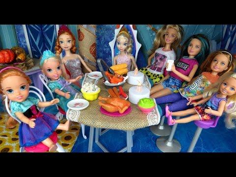 THANKSGIVING Celebration Elsa & Anna toddlers Turkey Food