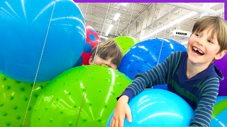 Axel's Ball Fort Challenge at Walmart