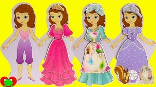 Sofia the First and Disney Princesses Play Dress Up
