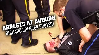 Arrests, some violence but largely peaceful protests at Richard Spencer
