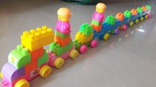 Long kid train of building blocks toys for children   Robots for kids   Kids Garden   kidqoopkid