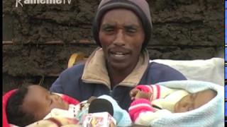 Family imwe kuuma Bahati kuria uteithio kurera ciana ciao ithatu cia mahatha