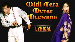 Didi Tera Devar Deewana Full Song With Lyrics | Hum Aapke Hain Koun | Salman Khan & Madhuri Dixit