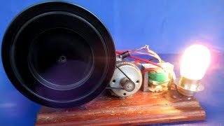 How to make Free  electricity generator Motor with Light Bulb - At Home 2019