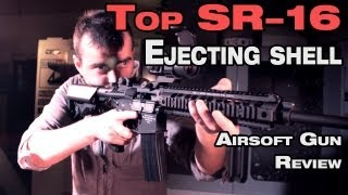 Airsoft shell ejecting Top Knight's SR16 URX II EBB assault rifle review