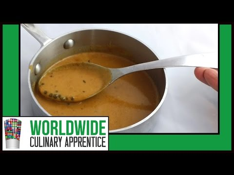 How to Make a Green Peppercorn Sauce-Sauce aux Poivre Vert-Online Cooking Classes