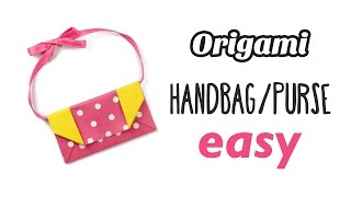 Easy Origami Handbag / Purse Tutorial ♥︎ DIY ♥︎ Paper Kawaii