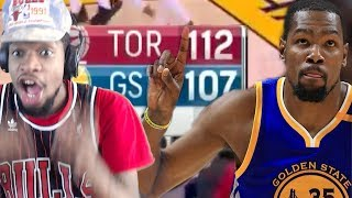 DURANT CHOKES ANOTHER ONE! WARRIORS vs RAPTORS HIGHLIGHTS REACTION