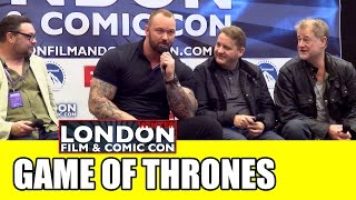 Game of Thrones LFCC Winter Comic Con Panel - The Mountain, Alliser Thorne, Ser Dontos & Rorge
