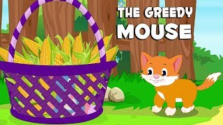 English Stories For Kids | The Greedy Mouse | English Story Time For Babies | By Aanon Animation
