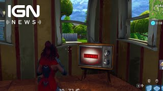 Fortnite: Players Discover New TV Message - IGN News