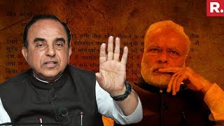 Dr. Subramanian Swamy On A Shocking Plot To Assassinate PM Narendra Modi