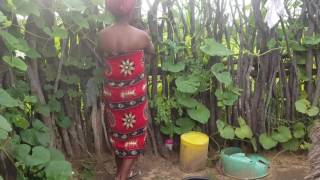 Namibian Village Life: Taking a bath and using the (bush) Toilet