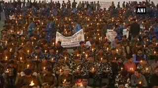 Pulwama attack: CRPF officers hold candle march in MP's Bhopal
