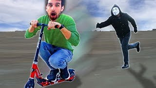 SCOOTER CHASE with PROJECT ZORGO (Daniel Escapes Trap by Joseph Banks to Explore Riddles)