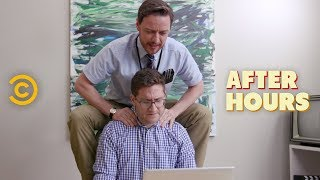 Office Erotic Asphyxiation with James McAvoy - After Hours with Josh Horowitz
