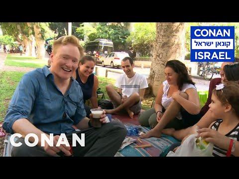 Conan Hits The Streets & Beaches Of Tel Aviv CONAN on TBS