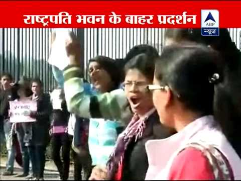 Xxx Mp4 Women And Girls Protest At Rashtrapati Bhawan Demand Death For Rape Against Rapists 3gp Sex
