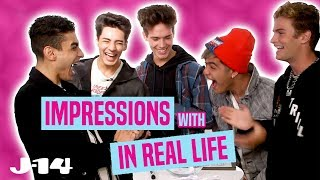 In Real Life Does Impressions of Ariana Grande, Selena Gomez, and More!