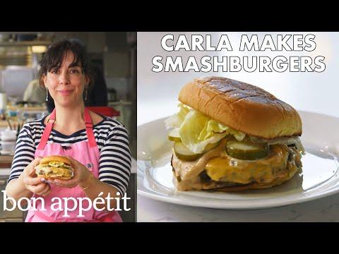 Xxx Mp4 Carla Makes BA Smashburgers From The Test Kitchen Bon Appétit 3gp Sex