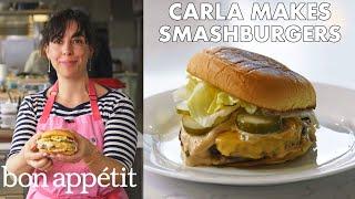 Carla Makes BA Smashburgers | From the Test Kitchen | Bon Appétit