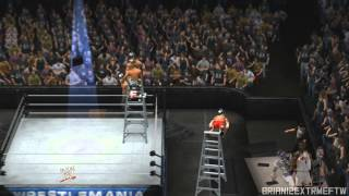 WWE 2K14   Chris Jericho Awesome Code Breaker off Ladder through Table