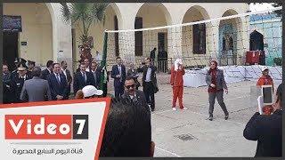 نزيلات سجن القناطر يهزمن نواب لجنة حقوق الإنسان فى مباراة كرة طائرة