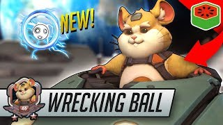 WRECKING BALL - OP NEW HERO! | Overwatch Gameplay