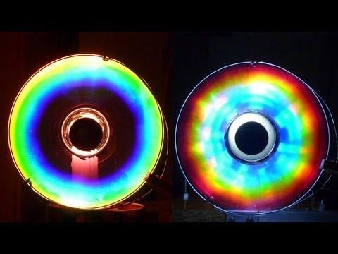 Cómo hacer Colores Alucinantes con un CD Arco iris Casero experiencia de Física