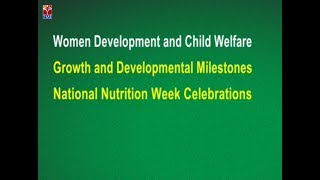 T SAT || National Nutrition Week Celebrations || Live With Women & Child Development Dept of TS